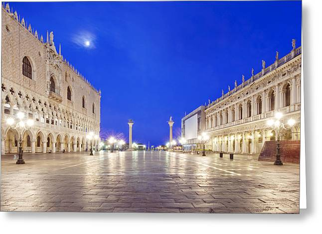 Man Made Space Greeting Cards - St. Marks Square Piazza San Marco Greeting Card by Rob Tilley