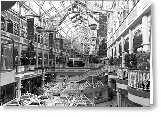 Grafton Center Greeting Cards - St. Stephens Green Shopping Centre Greeting Card by Semmick Photo