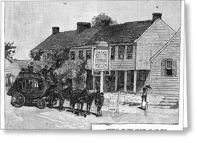 19th Century America Greeting Cards - STAGECOACH, 19th CENTURY Greeting Card by Granger