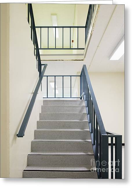 Flight Of Stairs Greeting Cards - Staircase Greeting Card by Andersen Ross