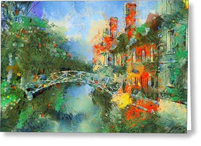 Urban Nature Study Greeting Cards - Stamford Bridge Greeting Card by Yury Malkov