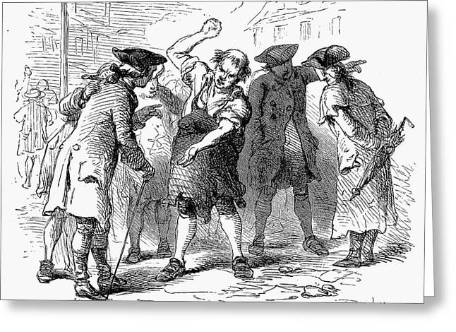 Protesters Greeting Cards - Stamp Act, 1765 Greeting Card by Granger