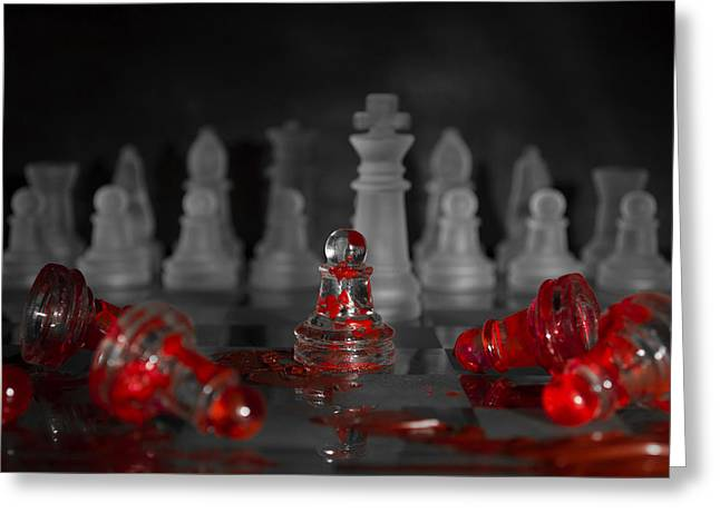 A Game Of Chess Greeting Cards - Standing Alone Greeting Card by Samantha Guindon
