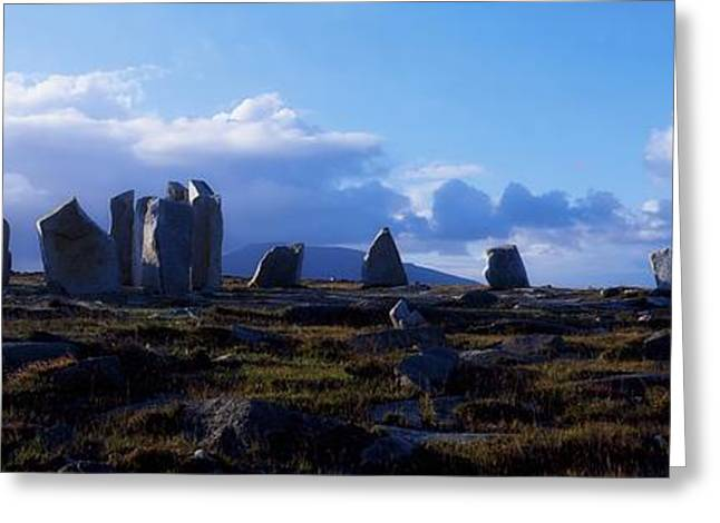 Perpendicular Greeting Cards - Standing Stones, Blacksod Point, Co Greeting Card by The Irish Image Collection