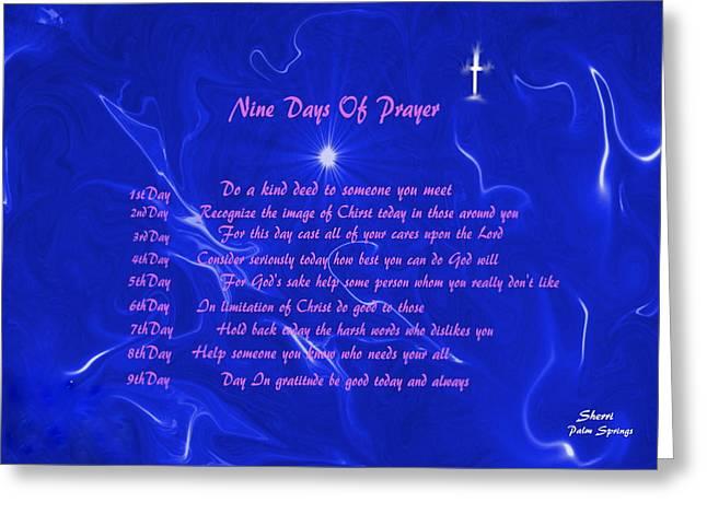 Digital Art Greeting Cards - Star Light Star Bright Greeting Card by Sherri  Of Palm Springs