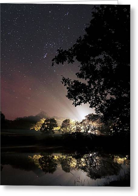 Starry Night Greeting Card by Laurent Laveder