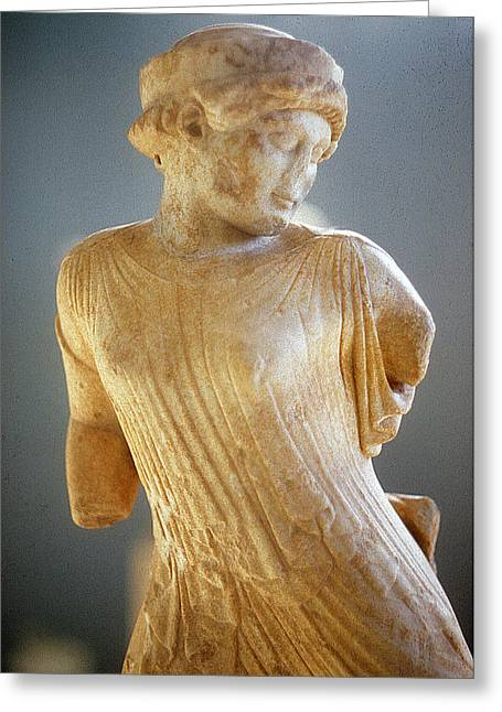 Greek Sculpture Greeting Cards - Fleeing maiden Greeting Card by Andonis Katanos