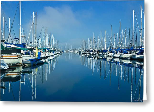 Ocean Art Photography Greeting Cards - Still Waters Greeting Card by Heidi Smith