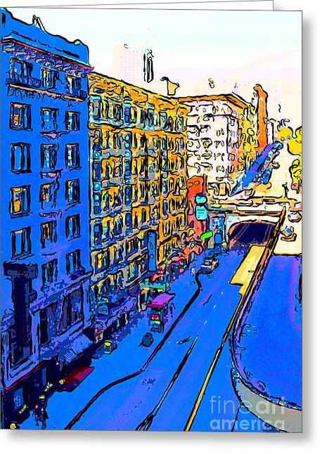 Sutter Street Greeting Cards - Stockton Street Tunnel in Heavy Shadow Greeting Card by Wingsdomain Art and Photography
