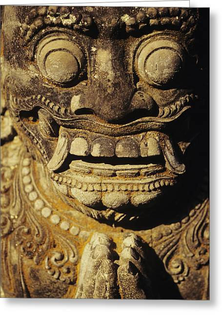 Culture Influenced Art Greeting Cards - Stone Carving Greeting Card by Dana Edmunds - Printscapes
