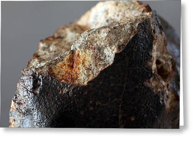 Reform Greeting Cards - Stone Meteorite Fragment Greeting Card by Detlev Van Ravenswaay
