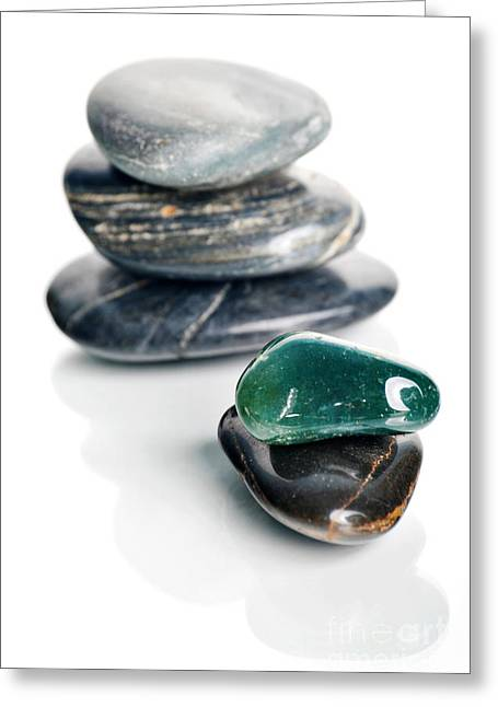 Clean Greeting Cards - Stones Greeting Card by HD Connelly