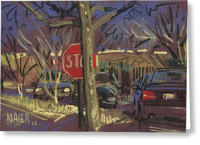 Plein Air Pastels Greeting Cards - Stop Greeting Card by Donald Maier