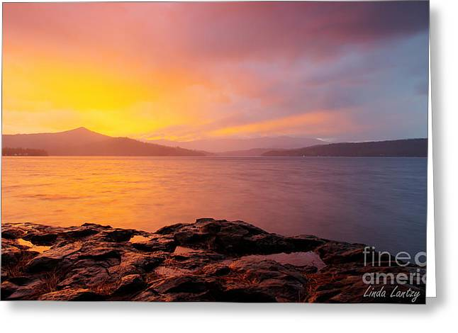 North Idaho Greeting Cards - Storm Color Greeting Card by Idaho Scenic Images Linda Lantzy