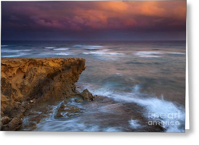 Lithified Greeting Cards - Storm Driven Greeting Card by Mike  Dawson