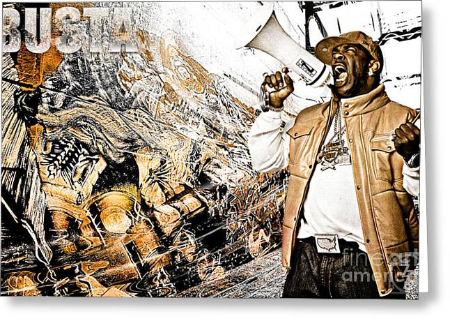 D77 Greeting Cards - Street Phenomenon Busta Greeting Card by The DigArtisT