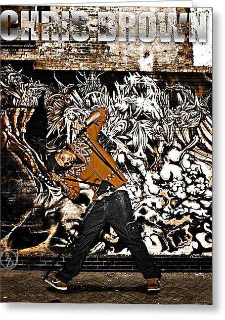 Break Dance Greeting Cards - Street Phenomenon Chris Brown Greeting Card by The DigArtisT