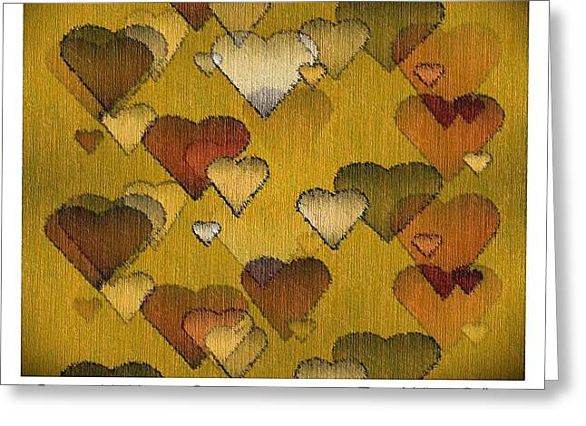 Best Sellers -  - Striae Greeting Cards - Striae to My Heart ... Greens Greeting Card by Terry Mulligan