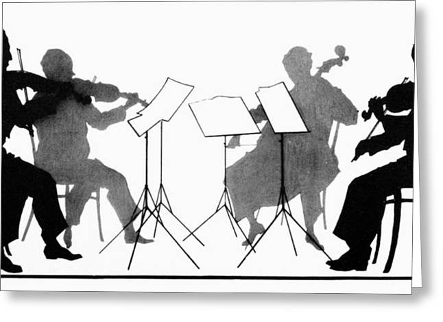 Music Stand Greeting Cards - STRING QUARTET, c1935 Greeting Card by Granger