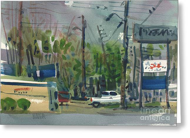 Stripped Greeting Cards - Strip Mall Greeting Card by Donald Maier