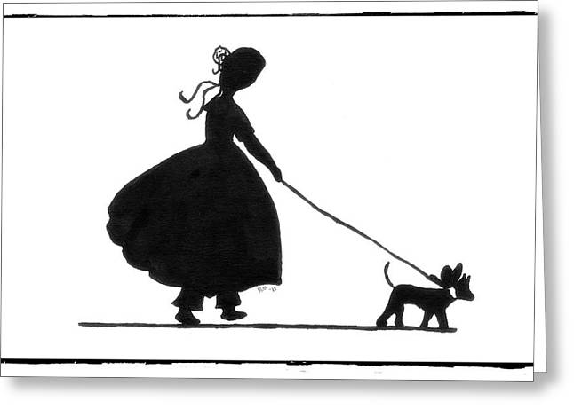 Mitt Drawings Greeting Cards - Strolling Along Greeting Card by Patricia Montgomery