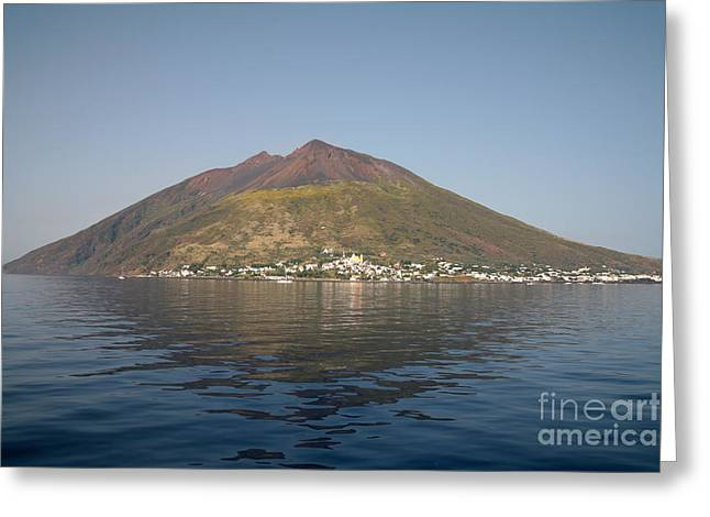 Land Feature Greeting Cards - Stromboli Volcano, Aeolian Islands Greeting Card by Richard Roscoe