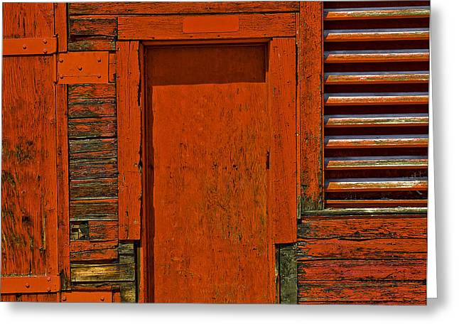 Entrance Door Greeting Cards - Structure.0048 Greeting Card by Gary LaComa