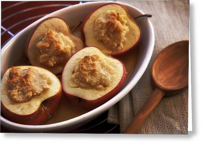 Halved Greeting Cards - Stuffed Baked Apples Greeting Card by Joana Kruse