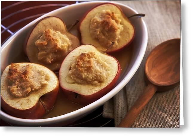 stuffed baked apples Greeting Card by Joana Kruse