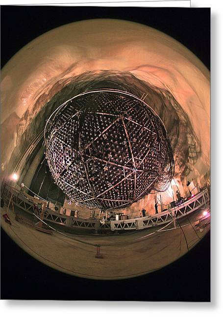 Sudbury Greeting Cards - Sudbury Neutrino Observatory Greeting Card by Lawrence Berkeley National Laboratory