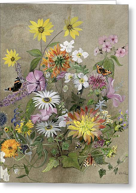 Seasonal Bloom Greeting Cards - Summer Flowers Greeting Card by John Gubbins