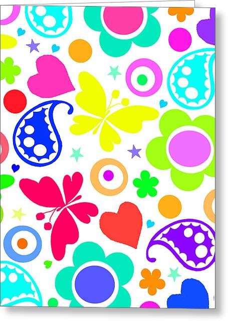 Bold Style Greeting Cards - Summer Fun Greeting Card by Louisa Knight