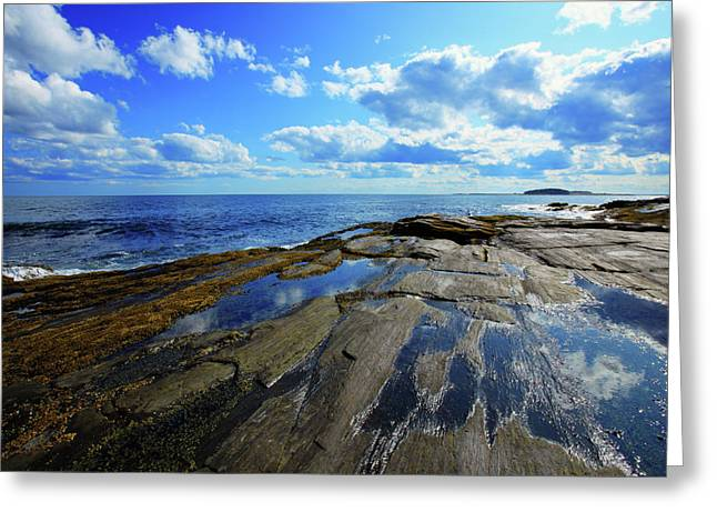 New England Ocean Greeting Cards - Summer Sky Greeting Card by Rick Berk