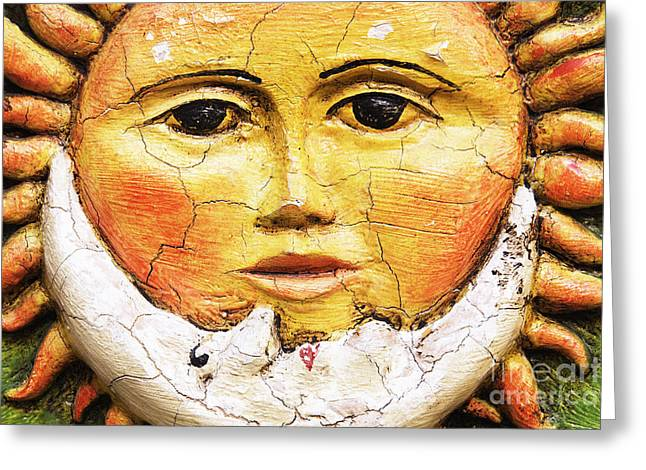 Miguel Art Greeting Cards - Sun and Moon Motif Greeting Card by Jeremy Woodhouse