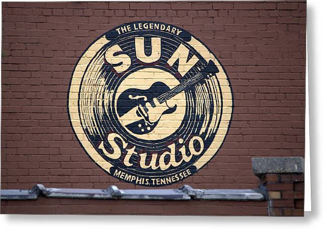 Sun Studio Greeting Cards - Sun Studio Memphis Tennessee Greeting Card by Wayne Higgs