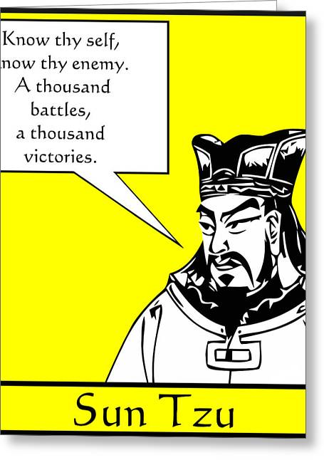 Strategies Greeting Cards - Sun Tzu Greeting Card by War Is Hell Store