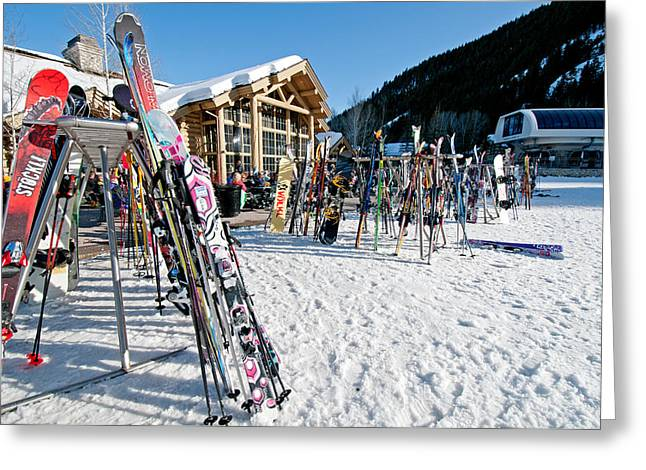 Sun Peaks Resort Greeting Cards - Sun Valley Greeting Card by Elijah Weber