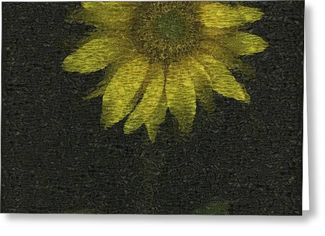 Sunflower Greeting Card by Deddeda