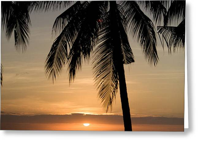 Sunrise At Bali Island Greeting Card by Tim Laman