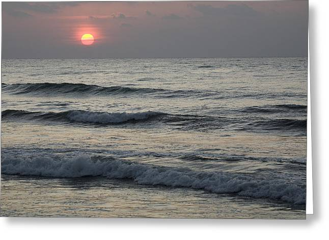 Sunrise Over Arabian Sea Hawf Protected Greeting Card by Sebastian Kennerknecht