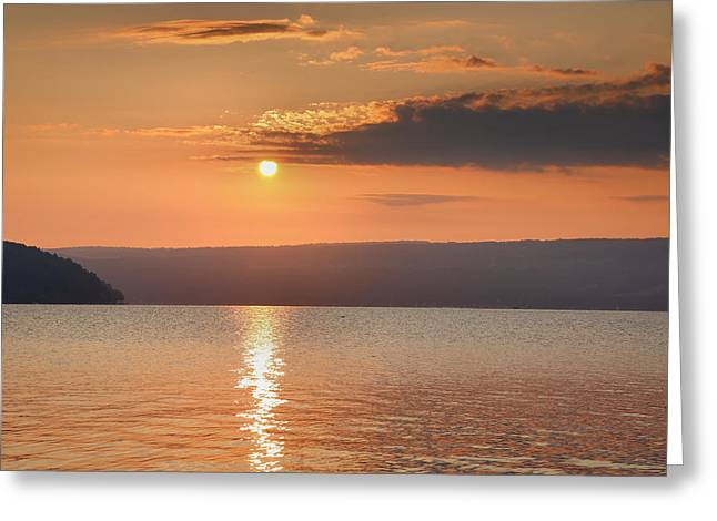 Finger Lakes Greeting Cards - Sunrise Over Keuka II Greeting Card by Steven Ainsworth