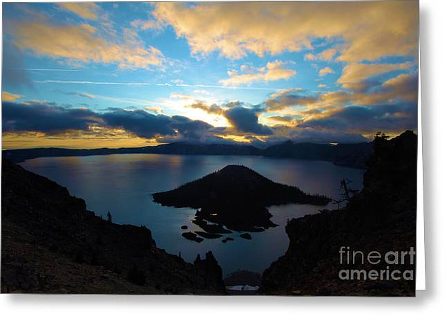 Craters Greeting Cards - Sunrise Over The Wizard Greeting Card by Adam Jewell