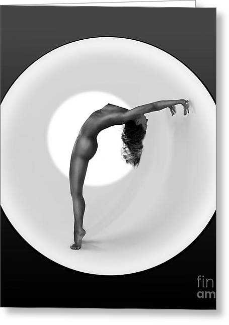 Olia Saunders Greeting Cards - Sunrise Yoga Nudes 2 Greeting Card by Design Remix