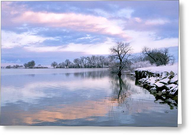 Sking Greeting Cards - Sunset at Fossel Creek. CO Greeting Card by James Steele