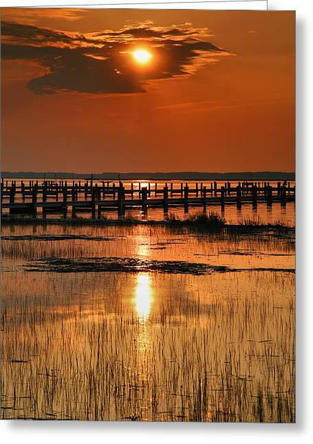 Sunset Prints Greeting Cards - Sunset Bay IV Greeting Card by Steven Ainsworth