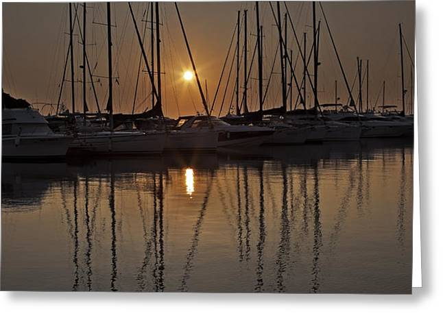sunset Greeting Card by Joana Kruse