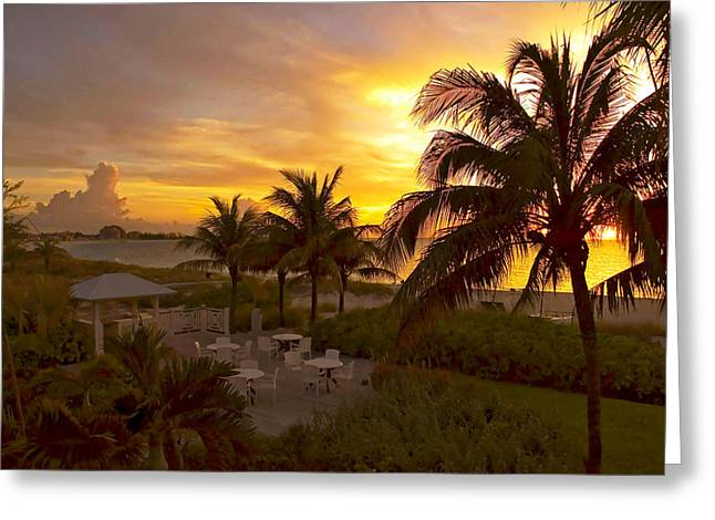 Tropical Island Greeting Cards - Sunset on Grace Bay Greeting Card by Stephen Anderson
