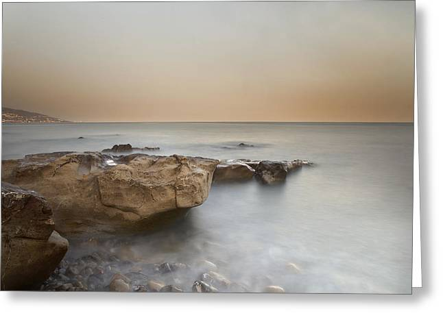 Time Exposure Greeting Cards - Sunset on the Mediterranean Greeting Card by Joana Kruse