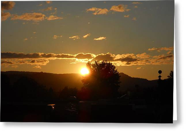 Amazing Pyrography Greeting Cards - Sunset Greeting Card by Phillip Bittman