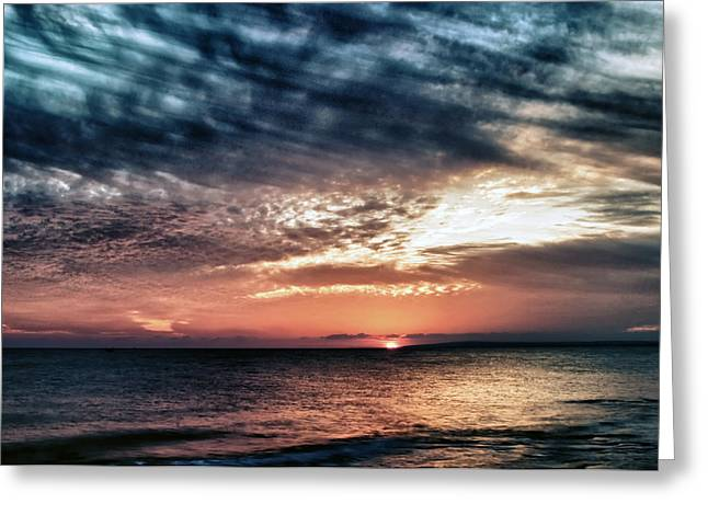 Sunset Greeting Card by Stelios Kleanthous
